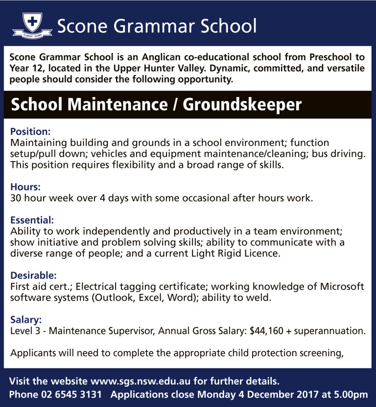 Maintenance and Groundskeeper