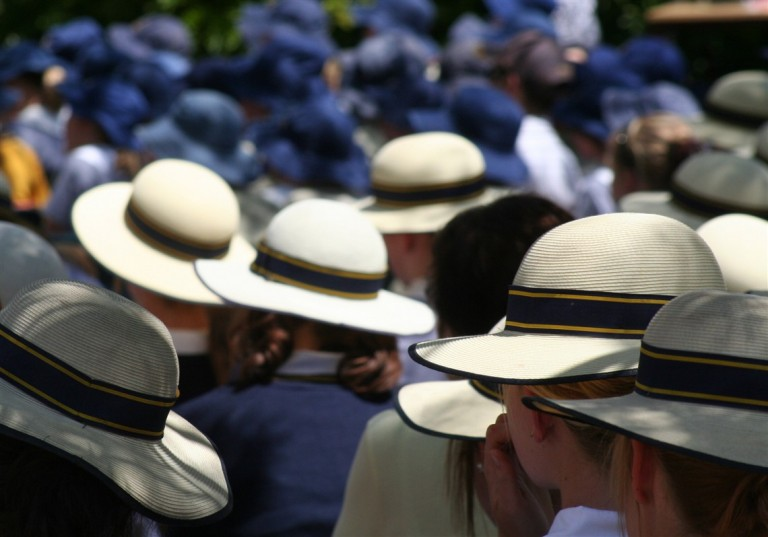 Generic School Image (Hats at Assembly)
