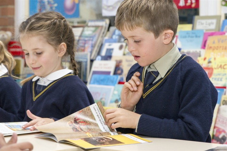 Primary in library 6